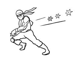 coloring ninja coloring page