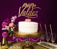 wedding cake name wedding cake topper with s last name let s top that