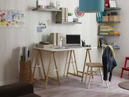 bureau design 39 idées déco de tréteaux pour créer une table ou un bureau