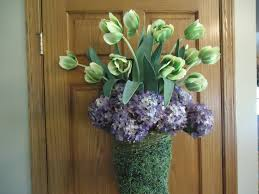 Floral Arrangement Supplies by Large Twig Wall Basket Natural Vine Green Door Hanging Floral