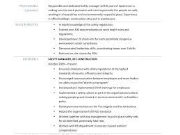 Ecologist Resume Cv For Safety Officer 1 2 Project Manager Safety Ehs Resume