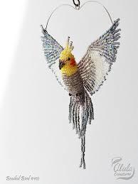 cockatiel ornament bird window decor bird suncatcher bird