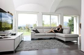 Leather Sectional Sofa With Ottoman by Italian Leather Sectional Set With Optional Footrest Ottoman