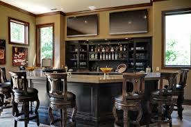Basement Bar Design Ideas L Shaped Basement Bar Has Corner Home Bar Design