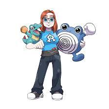 i drew a pokemon trainer w totodile and polywhirl pokemon