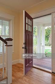 open front door of home interior stock photo getty images