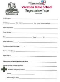sunday registration form biz card pinterest