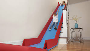 sliderider a collapsible device that turns household stairs into