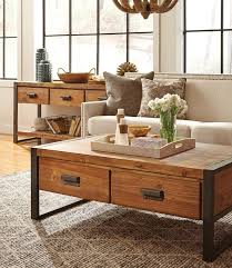 Rustic Industrial Coffee Table Rustic Industrial Coffee Table With Drawers Zin Home