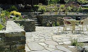 Sunken Patio Landscaping With Structures