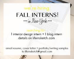 Interior Design Intern by Now Hiring Fall Interns Life In Sketch