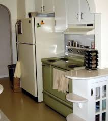 colored appliances in retro kitchens