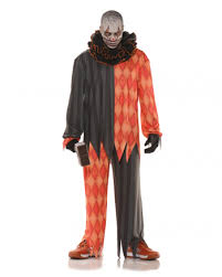scary clown costumes evil clown costume with ruffled collar for horror clowns horror