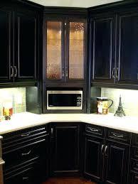 kitchen corner cabinets options corner kitchen cabinet corner built in microwave cabinet with glass