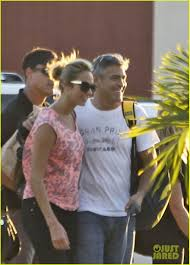 george clooney u0026 stacy keibler head home from cabo photo 2604609