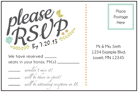 awesome wedding rsvp postcard template pikpaknews