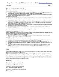 Sample Cra Resume by 19 Sample Resume Information Technology Work Search Record