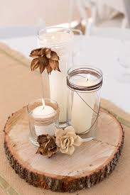 wood centerpieces a rustic nature inspired wedding rustic centerpieces