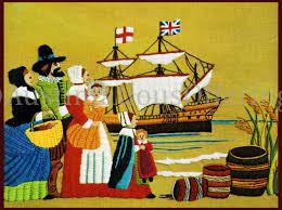 wilson pilgrim thanksgiving crewel embroidery kit mayflower