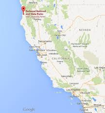 california map national parks where is redwood national park on map california world easy guides
