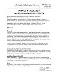 Toxicity Of Household Products by Harmful Ingredients In Household Cleaning Products