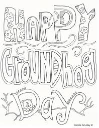 groundhog coloring pages doodle art alley