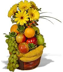 fruit flower bouquets punjab flowers send fruits to punjab with fresh fruits gift
