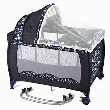travel baby bed images New all in 1 deluxe baby portable travel cot portacot playpen crib jpg