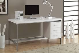 White Desk Amazon Com Monarch Hollow Core Silver Metal Office Desk 60 Inch