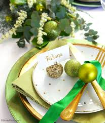 diy glitter baubles ornament place card holders party ideas