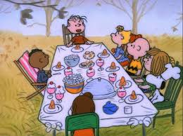 in a brown thanksgiving peppermint patty invites