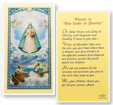 prayer to our of charity laminated prayer cards 25 pack from