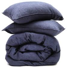 washed linen duvet sets heather navy contemporary duvet covers