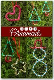 child made bead ornaments preschool stuff for