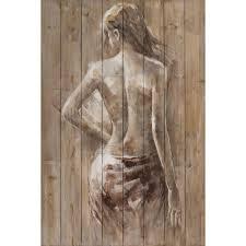 tableau portrait noir et blanc peintures de femmes sur toiles peintes à la main pier import