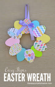 easter wreath easy paper easter wreath the resourceful