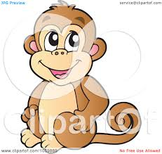 hanging monkey clipart black and white royalty free vector clip