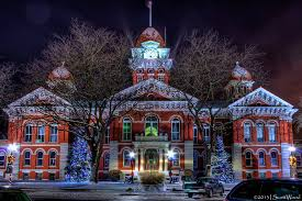 American Flag Christmas Lights Crown Point Indiana Court House Remember Putting American Flags