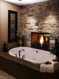 Bathtub Structure Bathroom 2017 Enjoyable Structure Stone Modern Fireplace In
