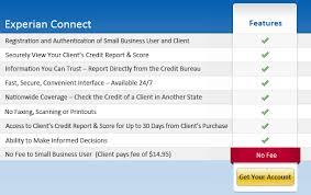 experian credit bureau credit checking between small business professionals clients with