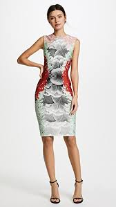 print dress yigal azrouel coral print dress shopbop