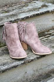 s boots with fringe flippin fringe taupe stacked ankle boot with chain suede fringe