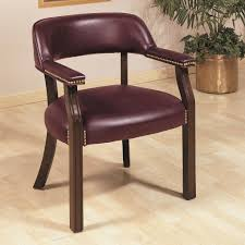 office chairs traditional upholstered vinyl side chair with