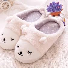 bedroom slippers free shipping winter warm indoor slippers cute cartoon sheep for