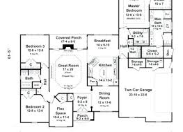 split house plans floor plans for a ranch house 4 bedroom ranch house plans