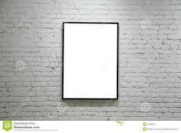 one black frame on white brick wall stock photography image 4486002