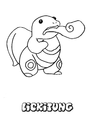 lickitung pokemon coloring page more pokemon coloring sheets on