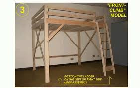 How To Build A Full Size Loft Bed With Desk by Loft Bed Frame Youtube