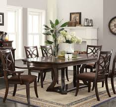 acme dining room furniture dark walnut wood dining table by acme
