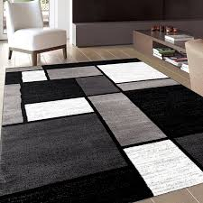 Modern Designer Rugs Rugs Curtains Modern Black Grey White Geometric Area Rugs For